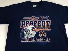 Auburn Tigers Perfect Season T-Shirt Adult Medium Football 2004 War Eagle 13-0