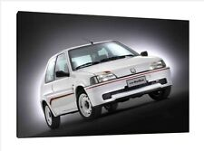 Peugeot 106 Rallye - 30x20 Inch Canvas - Framed Picture Print