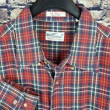 GANT RUGGER Mens Tartan Plaid L/S Button-Down Shirt XL The Hugger
