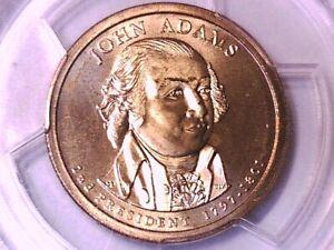 2007 P John Adams Presidential Dollar PCGS MS 68 Satin Finish Pos B 12296610