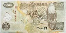 Zambia/Northern Rhodesia 500 Kwacha Banknote 2006 Polymer Pre-Rebase Africa