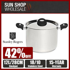 100% Genuine! STANLEY ROGERS 28cm 12 Litre Stockpot 18/10 S/S! RRP $189.95!