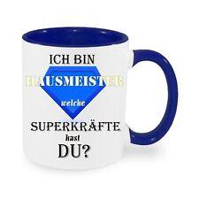 Ich bin Hausmeister Superkräfte - Kaffeetasse mit Motiv, bedruckte Tasse