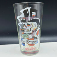 ED HARDY GLASS Love Kills slowly bar glassware barware cup mug skull dice tophat