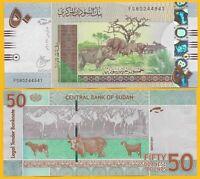 Sudan 50 Pounds p-75d 2017 UNC Banknote