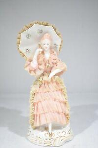 """Vintage Lady Lace Porcelain Figurine Doll 7"""""""