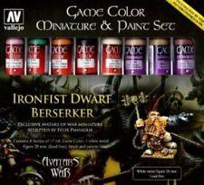 Acrílico Vallejo BNIB Juego Color Avatar Set (Figura Y Pincel) Ironfist Enano 72211