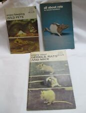 3 Books - Gerbils Rats Mice Wild Pets / Tfh Pet Library / Animals Rodents
