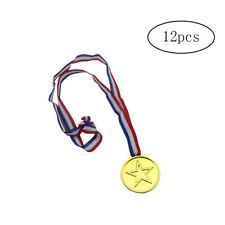 12 PCS Kids Winners Gold Medals Plastic Medals for Children's Sports Day