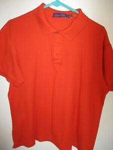 "Medium Orange RALPH LAUREN ""Purple Label"" 100% Italian Cotton Polo Shirt-Mint"