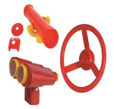Playground Cubby House Accessories STEERING WHEEL BINOCULARS TELESCOPE Pack 1