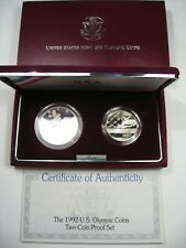1992 US Olympic 2-Coin US Commemorative Proof Set.  #25
