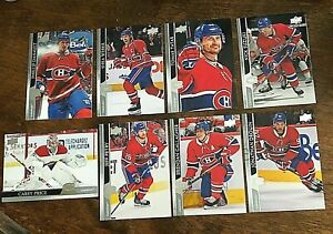 2020-21 UPPER DECK   MONTREAL CANADIENS  14 card  team set/ lot
