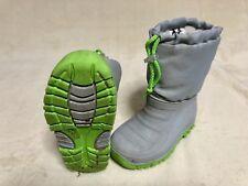 Winter Regen Stiefel 23 24 Mädchen Jungen gefüttert grau grün