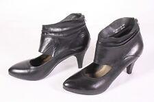 20D Bugatti Damen Stiefeletten Booties Leder schwarz Gr. 38 Ankle Boots Cut-Outs