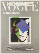 ANDY WARHOL signed litho print VOGUE HOMMES MAGAZINE Gerard Depardieu PARIS Rare
