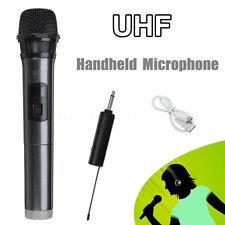UHF Microphone Wireless Handheld Stereo Mic for KTV Singing Speech + Receiver