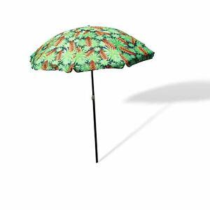 Beach Umbrella Outdoor 1.8m Sun Shade w/ Carry Bag Tilt Pool Summer Protection