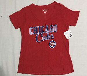 U6 New NWT G-III G3 4her Chicago Cubs Red T Shirt Tee WOMEN'S Small S