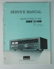 Service Manual SANSUI tu-4400 Stéréo Tuner-Schéma Instructions Anglais b6722