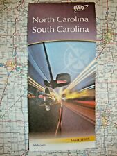 North Carolina & South Carolina State Map Street Road Tour Guide '20 Aaa Nc Sc