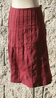 A line skirt, beautiful pleated,100% cotton,Red,Black,Brown,White, Size S,M,L,XL