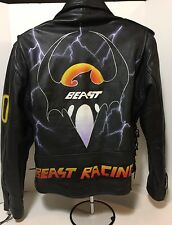 Beast Racing L.A. ROXX Men's Motor Cycle Leather Jacket; Sz XXL One-of-a-Kind!!