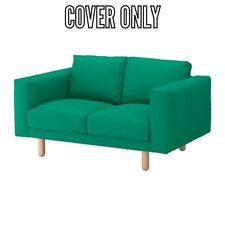 IKEA NORSBORG COVER SLIPCOVE FOR LOVESEAT EDUM Bright Green WITH ARMREST COVERS
