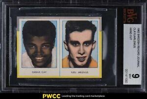 1962 Swedish Rekord Journal Panel Cassius Clay Muhammad Ali ROOKIE RC BVG 9 MINT