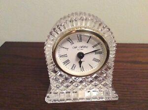 Lead Crystal Mantel Clock