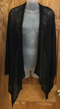 Knit Shrug Sweater Black My Michelle Long Sleeve Size Large Open Front