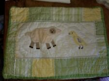 "Pottery Barn Kids ""Green/Yellow Farm Animals"" 12 X 16 Pillow Sham"