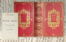 1858 magnifique reliure Silésie BIBLE BIBLIA Germanica Silesia Stately Binding