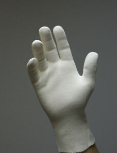 10 Pair Work Gloves Made of Cotton White / Raw White A210
