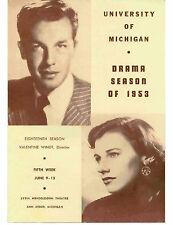 1953 ANN ARBOR UNIVERSITY MICHIGAN DRAMA SEASON HASTY HEART WASHTENAW COUNTY