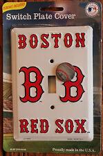 New White Boston Red Sox Baseball MLB Licensed Light Switch Plate Metal Cover
