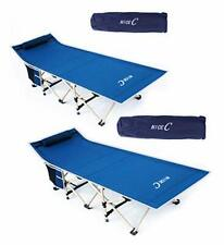 New listing Nice C Folding Camping Cot Sleeping Bed Tent Cot with Pillow Carry Bag & Stor...