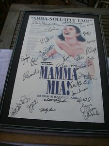 MAMMA MIA First National Tour Replacement CAST SIGNED POSTER-CHILINA KENNEDY