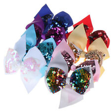 5Inch Colorful Sequin Hair Bows for Girls Shiny Kids Hair Clip Hair Accessor SE