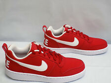 Nike COURT BOROUGH Mens Low Top Red White Gym Shoe Size 7.5M