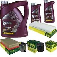 Motor-Öl 7L MANNOL Diesel TDI +MANN-FILTER für Nissan Navara D40 2.5 dCi 4WD
