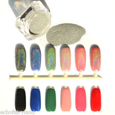 1.5g/Box Nail Art Rainbow Holographic Glitter Powder Laser Pigment Manicure
