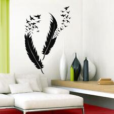 Wandtattoo Wandsticker Wandaufkleber Wohnzimmer Flur Küche Vögel Federn W5382