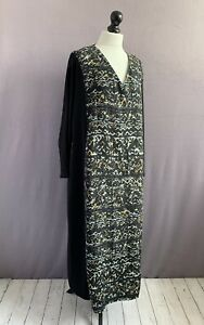 """WALL LONDON Gorgeous Textured, Draped Cupro Relaxed Fit Kaftan Dress S/M 52"""" CH"""