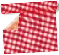 Tischläufer - Vichy rot kariert - Vichy red - Tischband - Rolle 1x NEU