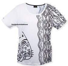 Laurel Burch Black White Cat T Shirt Short Sleeve Polyester XXL 2XL New Retired