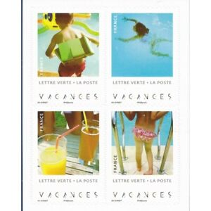 """CARNET """"VACANCES"""" lettre verte 20g BC1741 Année 2019"""