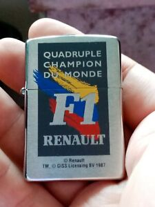 Zippo FORMULA 1 RENAULT CHAMPIONSHIP new old stock unused fully working