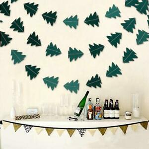 Paper Christmas Tree Hanging Garland Flag Xmas Banner For Christmas Party Good