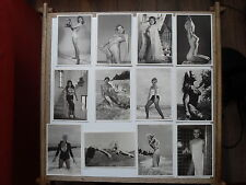 Modern glamour -  12 Bunny Yeager (photographer) black and white postcards